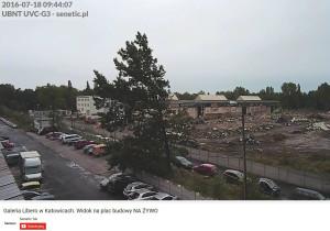 Senetic - widok na budowę galerii Libero w Katowicach/ screen z YouTube