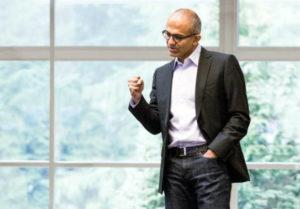 Satya Nadella - CEO Microsoftu - ma powody do zadowolenia/ Źródło: Official Microsoft Blog