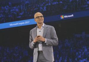 Satya Nadella podczas Microsoft Inspire 2017/ Źródło: Microsoft