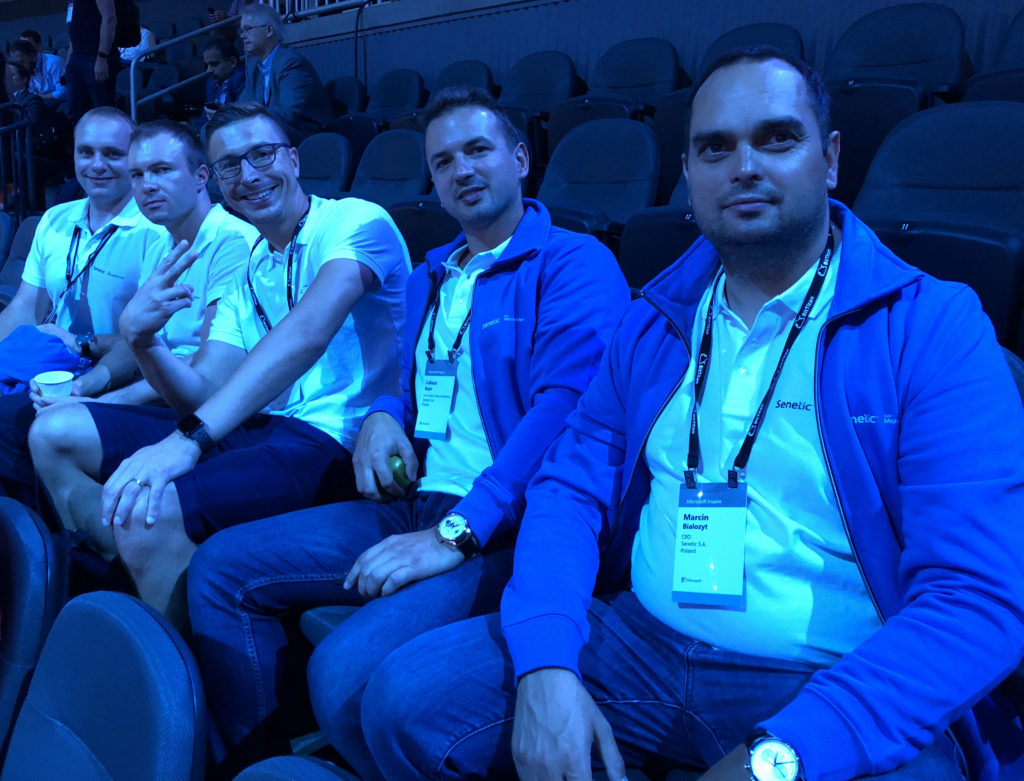 Senetic z mocną reprezentacją. Od prawej: Marcin Białożyt, nasz CEO; Łukasz Bojar, wiceprezes; Daniel Kaczmarczyk, Cloud Sales Director; Krystian Mularczyk, Cloud Solutions Project Manager i Jacek Kotynia, Software Business Unit Manager/ fot. Senetic