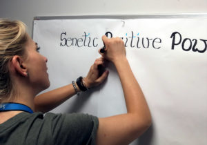 """Pierwsze chwile tablicy """"Senetic Positive Power"""". To od niej wszystko się zaczęło :)"""